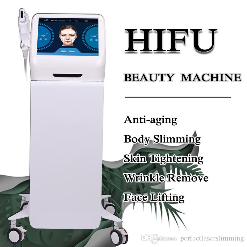 Hifu ultrason Anti Aging Hifu lifting machine de thérapie par ultrasons Hifu pour le resserrement de la peau et la machine de suppression des rides de la profession