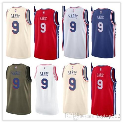 low priced 626a8 0840e 2019 custom 76ers Men/WOMEN/youth Philadelphia jersey 9 Dario Saric  basketball jerseys free ship size s-xxl message name number