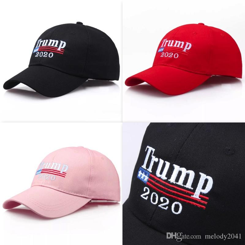 Embroidery Donald Trump 2020 Cap General Election Support Sport Hat Baseball Ball Adults Men Women 3 Colors Wholesale
