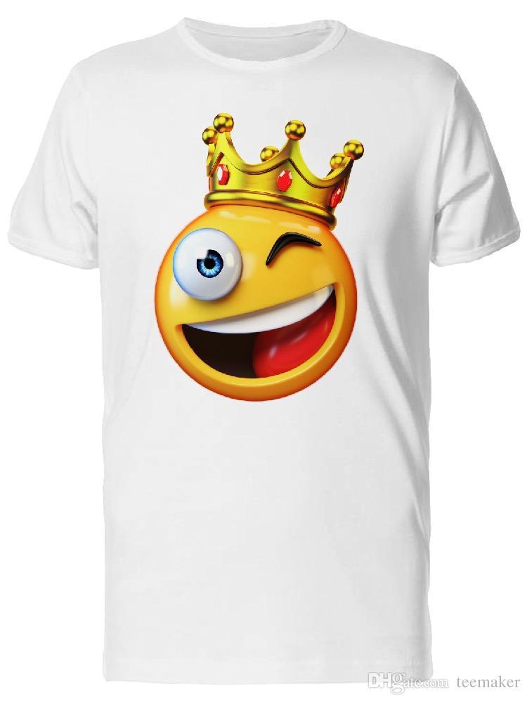 Compre Cool Happy King Emoji Sonriente Camiseta Para Hombre Amantes De La Camiseta  Camisa De Algodón De Cuello Redondo 3XL Manga Corta Personalizada ... e04d2a7f7ece7