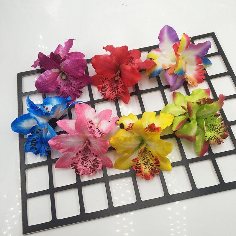 b0e2d3d5a7728 Floral Hair Clips Headwear Multicolor Hawaiian Hibiscus Flower Hair  Accessories For Girls Women Beach Wedding Party Supplies Ladies Hair Band  Hair ...