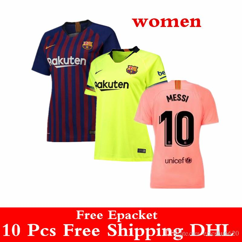 2019 AAA+Top Thai Quality 18 19 Barcelano Women Jersey MESSI Soccer Jerseys  2019 FCB Home Away Third COUTINHO O. DEMBELE Girls Football Uniforms From  ... 9744b57423