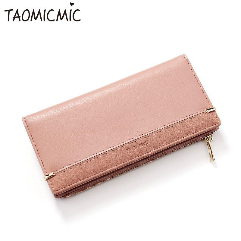 Banyan Kai cross-border fashion wallet female Korean version of the  multi-card clutch bag Ms  Pu long zipper wallet