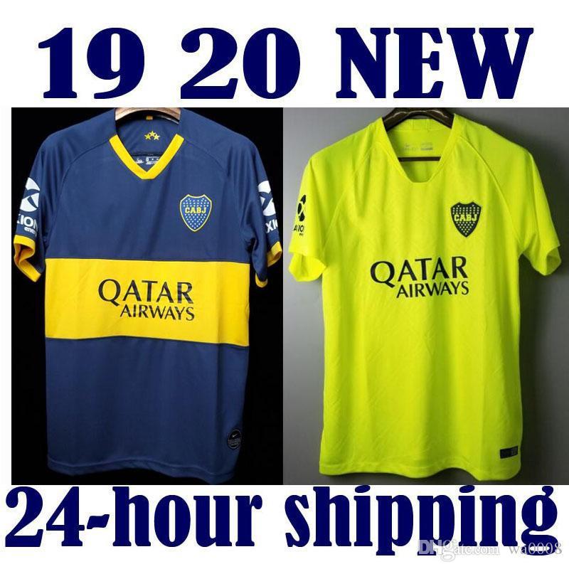 2019 2020 Boca Juniors jerseys soccer Soccer Jersey 19 20 Home Tibet Navy  Away yellow 5 GAGO Soccer Shirts Cardona Benedetto Pavón football
