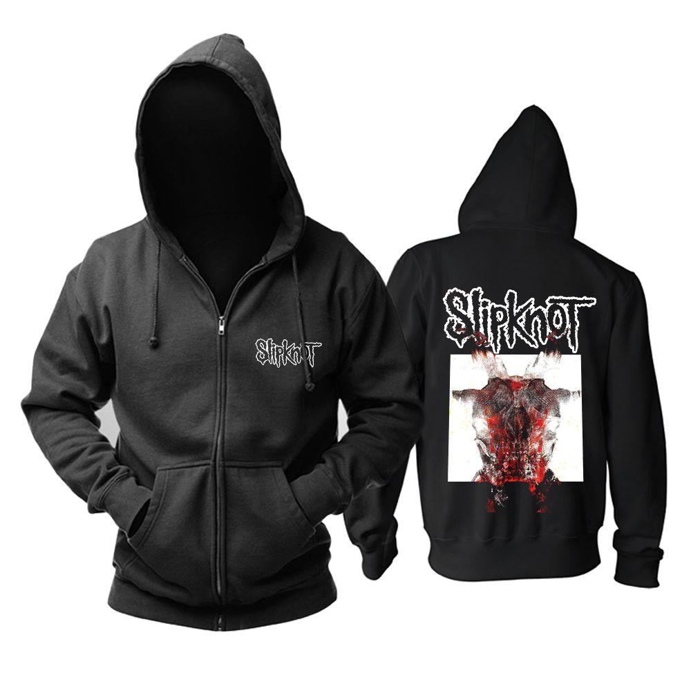 zombie panda Slipknot All Out Life album Alternative Metal black zipper  hoodie