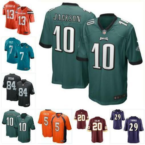 get cheap cfc3c e3e73 Joe Flacco Landon Collins Jersey Broncos Denver Antonio Brown Nick Foles  Odell Beckham Jr DeSean Jackson american football jerseys College