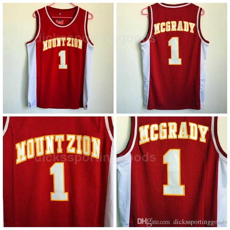 new concept 460d7 df94d NCAA College Men 1 Tracy McGrady Jersey Basketball Wildcats Mountzion  McGrady High School Jerseys University Red Breathable Free Shipping