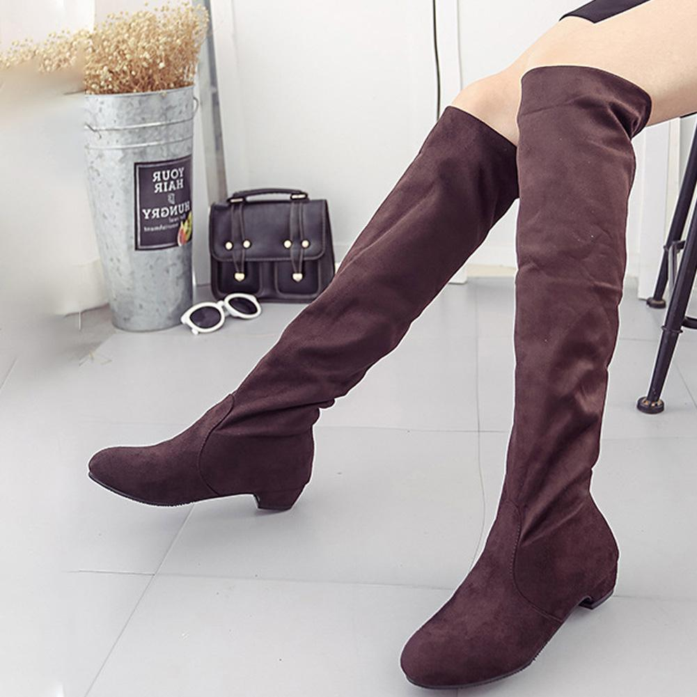 e0cb892ab3f Women Thigh High Boots Over The Knee Suede Boots Winter And Autumn Woman  Shoes Plus Size 35 40 Botas Mujer Femininas Western Boots Shoe Shops From  Backyar, ...