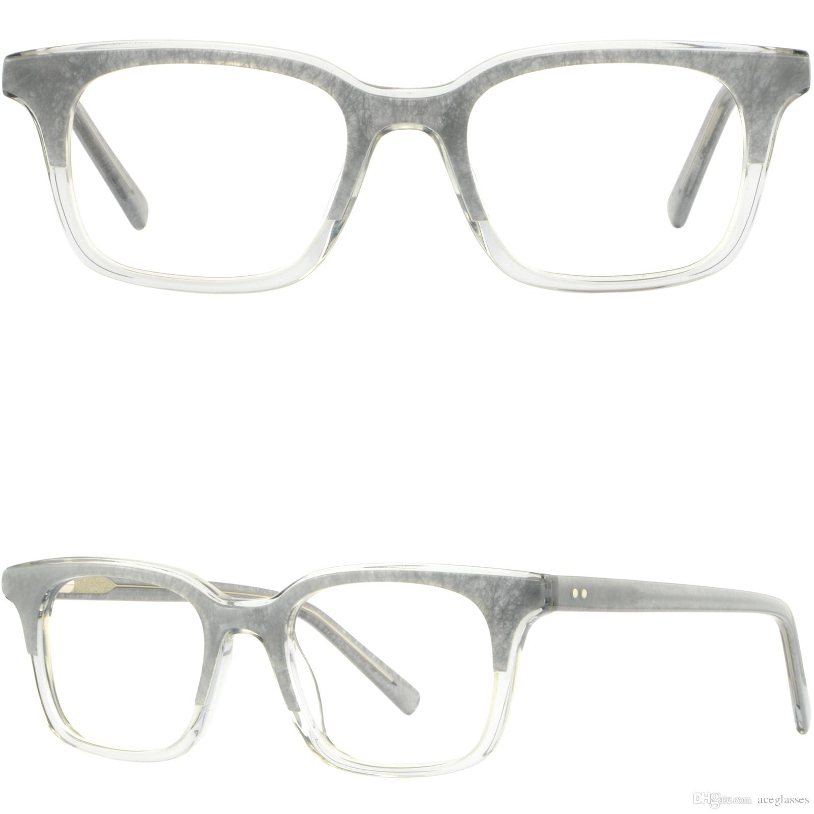 8f266c16bfd Gray Square Womens Acetate Plastic Frame Prescription Glasses Spring Load  Hinges Glasses Frame Online with  35.87 Piece on Aceglasses s Store