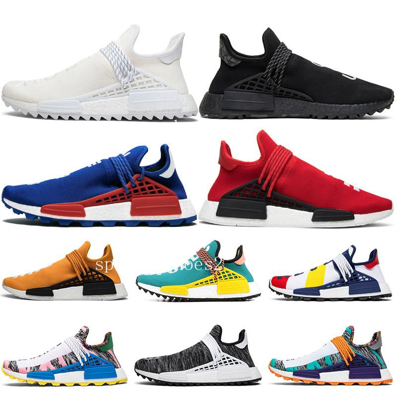 Human Race Solar Pack sneaker Homecoming Core Black holi Afro Hu trail nobel ink Pale nude Mens Womens Sports Running Shoes size Cheap 36-45