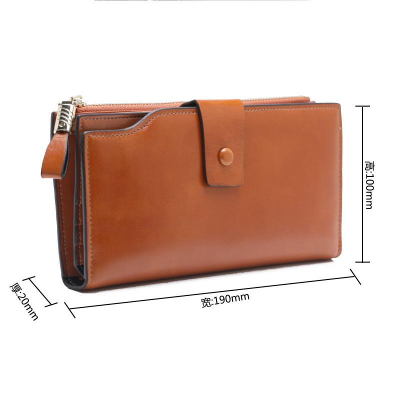 Fashion Long Women Wallet Genuine Leather Cell Phone Pocket Wallet For Women Purse Coin Purse Card Holder Carteira Feminina