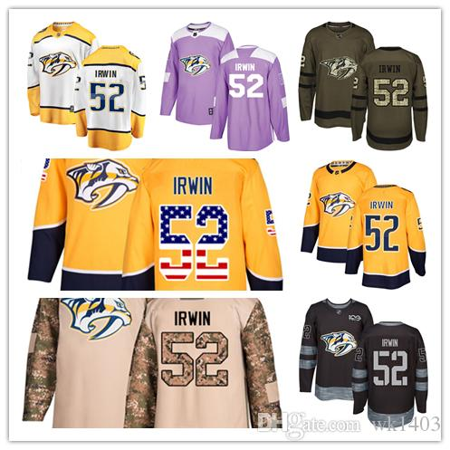 67198eff7d1 2019 Nashville Predators Jerseys #52 Matt Irwin Jersey Hockey Men Women  Youth Gold Yellow White Home Breakaway Stiched Authentic Jerseys From  Wk1403, ...