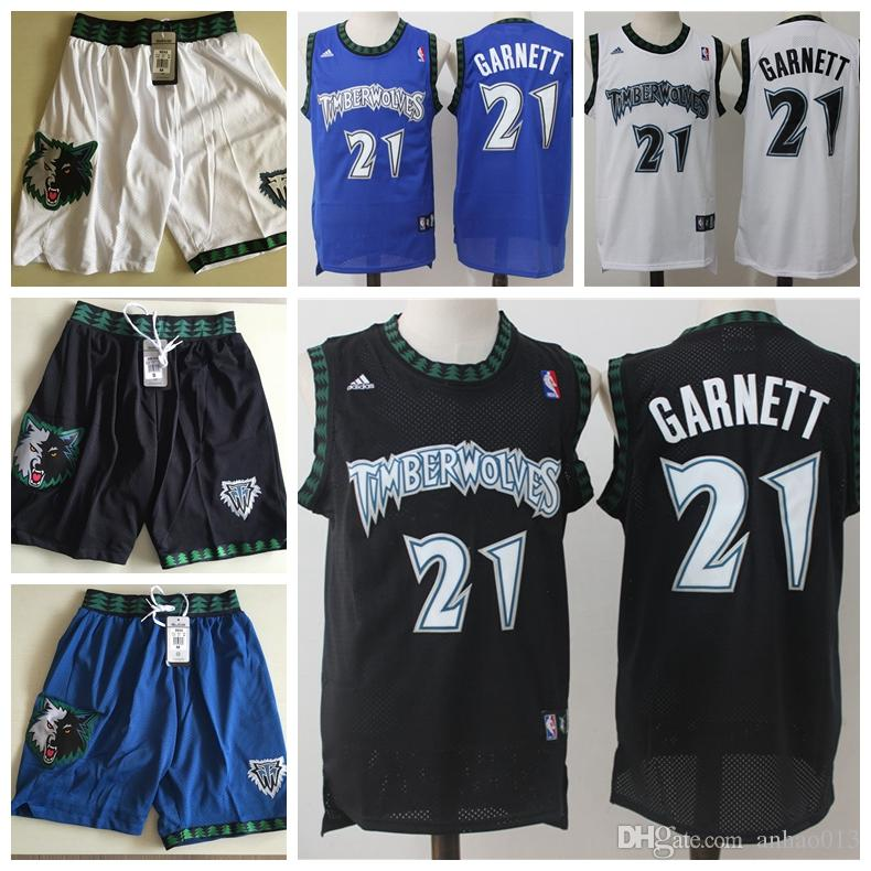 buy online 57bc6 50ddf 21 Kevin Garnett Minnesota mens Timberwolves Break white blue basketball  Jersey