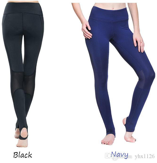 1f9313e5a 2019 Fitness Women Sport Pants Training Athletic Sportswear Trousers Yoga  Mesh Leggings Workout Gym Running Tights With Foot K0009  540564 From  Yhx1126