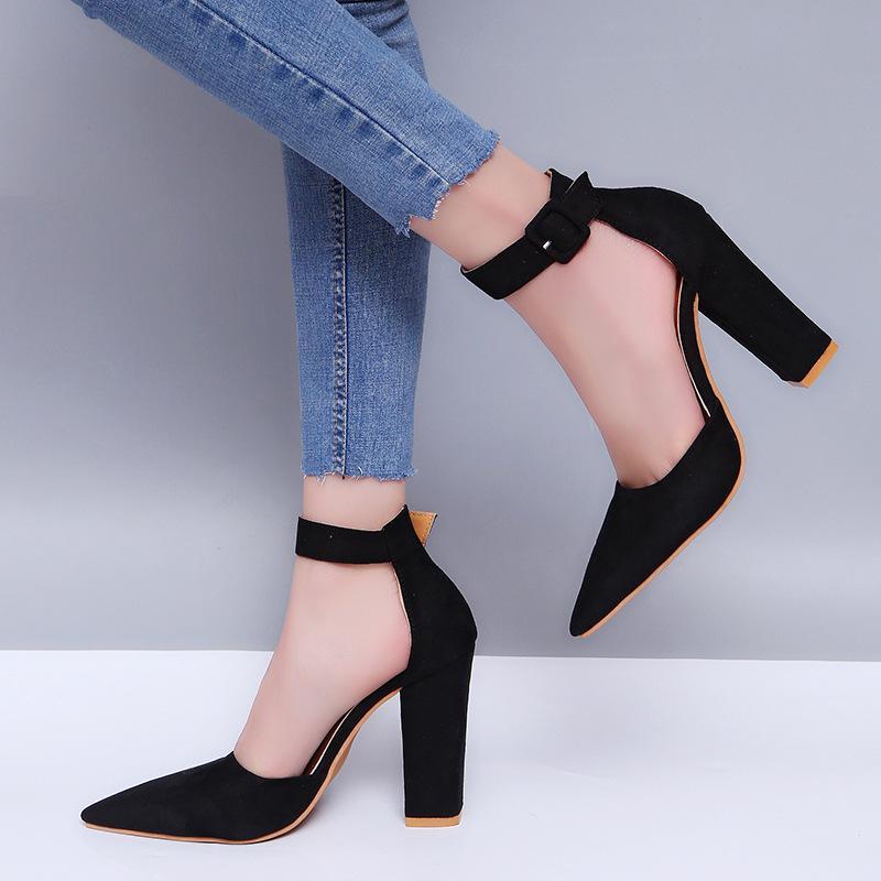3ddd2412c 2019 sexy tacones altos sandalias de las mujeres de verano de las señoras  bombas de tiras plataforma tacones mujer zapatos de la correa del tobillo  ...