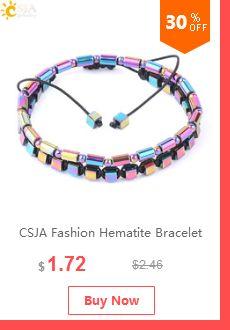 CSJA Natural Red Gem Stone Love Heart Charm Pulseras para los Regalos de Novia Valentines Chakra Crystal Rhinestone Bracelet F098
