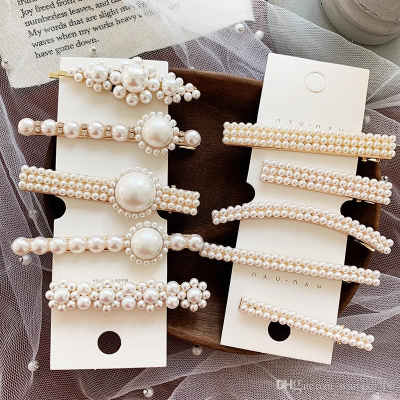 f6bd51cb7e13d New Fashion Women Pearl Hair Clip Hair Barrette Stick Hairpin Hair Styling  Accessories For Women Girl Hair Decoration Decorative Hair Pin From  Wangx0206, ...