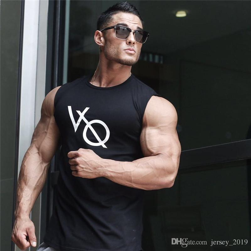 5144fdfe87001 2019 2019 Summer Vanquish Fitness Men Tank Top Mens Bodybuilding Stringers  Gyms Tank Tops Singlet Brand Clothing Men Sleeveless Shirt  271606 From ...