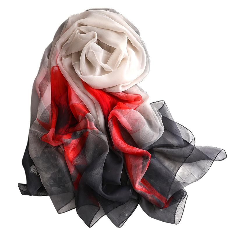 a9f7cced98c1 2019 Winter Women Scarf Fashion Print Silk Scarves Shawls And Wraps ...