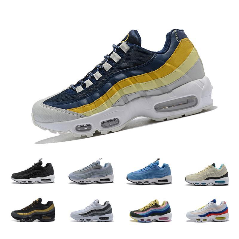 438d1800dc4 Wholesale 95 95s Men Running Shoes Triple White Black Grape Solar ...