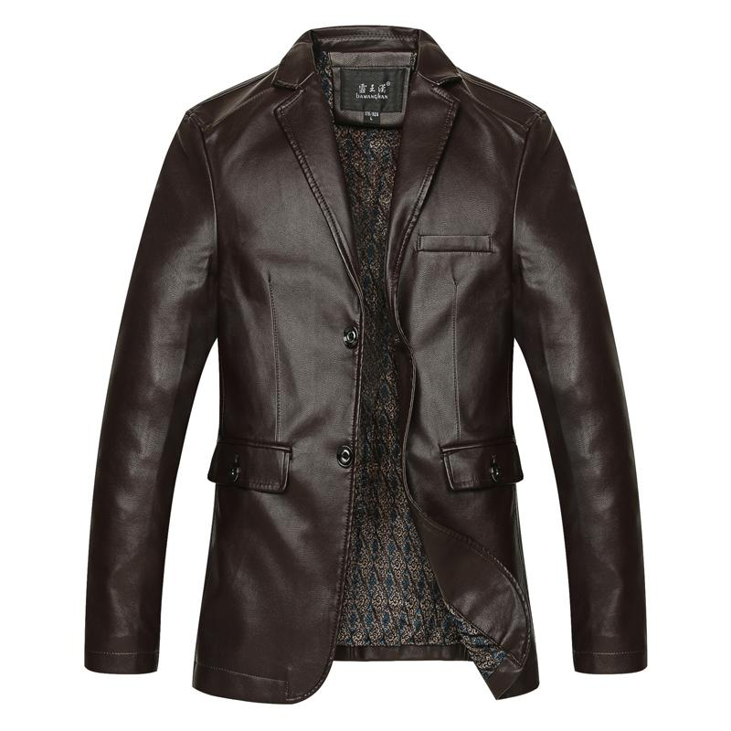 High Quality Mens Jacket Winter Autumn Brand PU Leather Jacket Men Motorcycle Overcoat Large Size