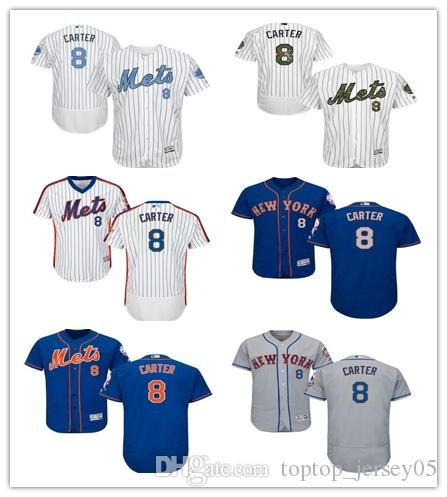 buy popular 350cc 55711 2018 New York Mets Jerseys #8 Gary Carter Jerseys men#WOMEN#YOUTH#Men's  Baseball Jersey Majestic Stitched Professional sportswear