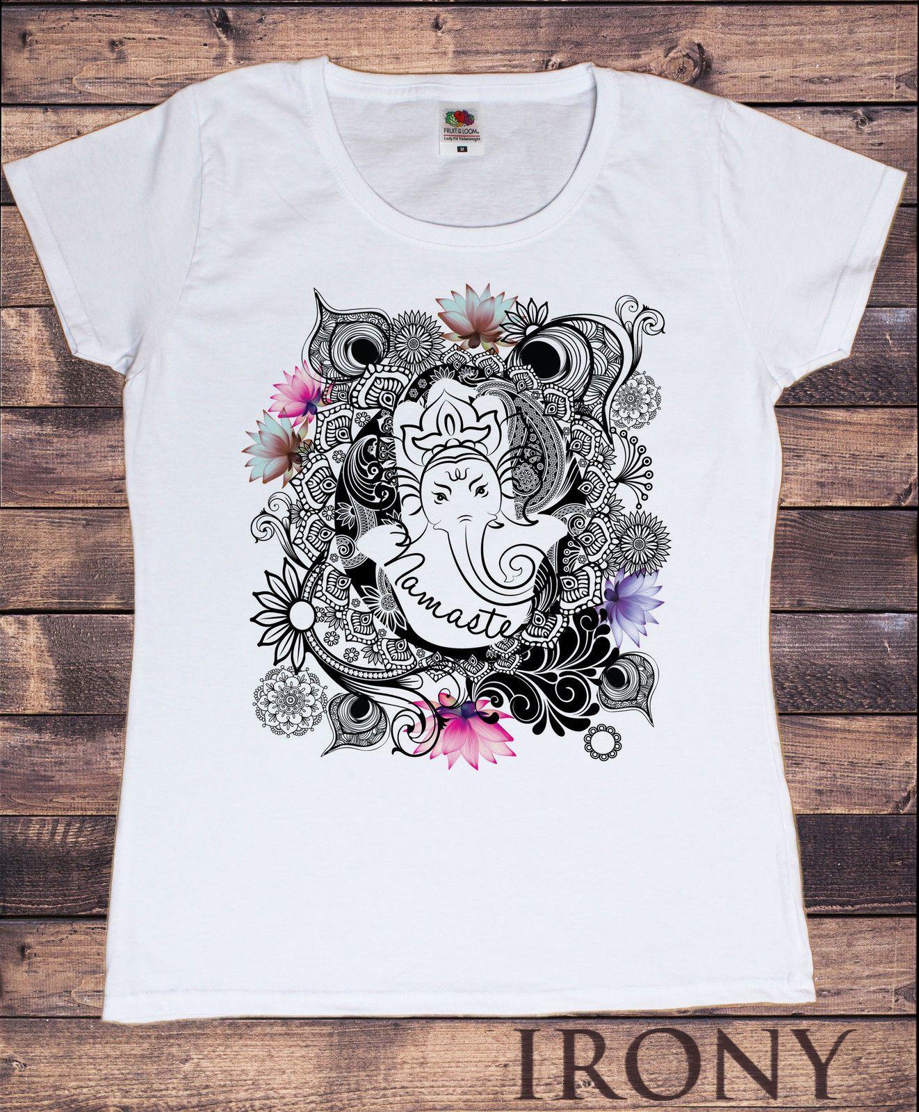729f38444b Women'S T Shirt Namaste Ganesh Lotus Flowers Yoga Meditation Zen Print  TS150 Men Women Unisex Fashion Tshirt Ti Shirt Best T Shirt Sites From ...
