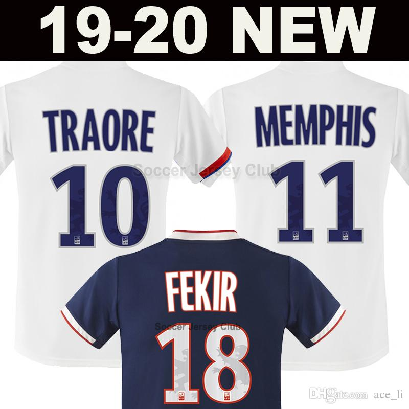 2019 2020 Maillot de foot Olympique Lyonnais soccer jersey 19 20 TRAORE  MEMPHIS FEKIR AOUAR GOUIRI OL Lyon football shirt Thailand quality