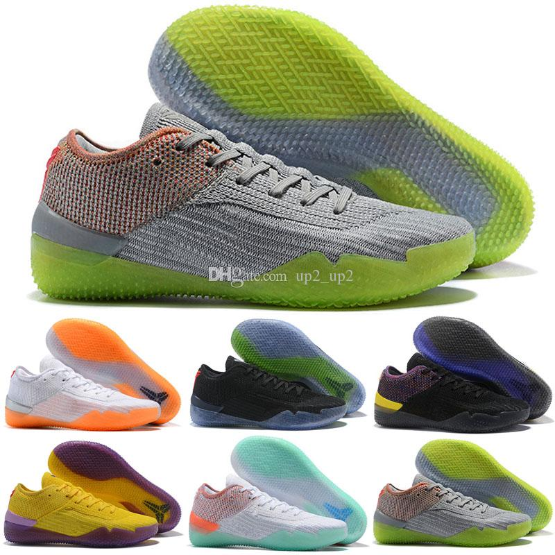 lowest price 6d9a1 408ea Kobe AD NXT 360 React Mamba Day MultiColor Yellow Strike Kobe A.D. Pink  Mens Outdoor Shoes Size 40-46