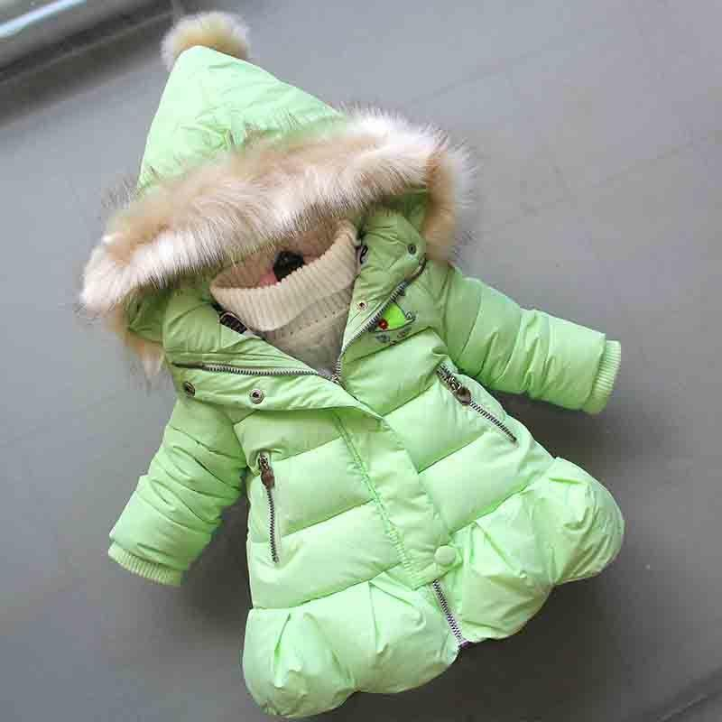 847a282493e4 Good Quality 2019 New Baby Girls Winter Coat Infant Hooded Fur ...