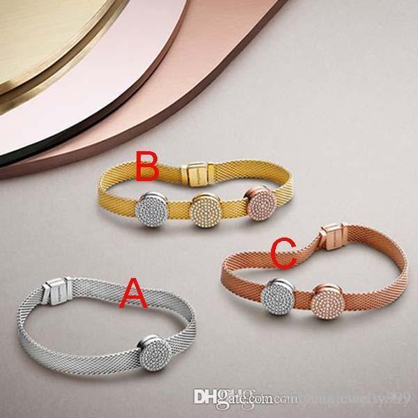4e8b33b97e7a Compre Viernes Negro 2018 Pandora Reflexion Shine Rose Gold Charm Bracelet  925 Joyas De Plata Esterlinas Vienen Con Paquetes Originales Completos A   50.77 ...