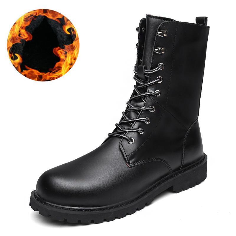 0bade581373 Compre 2019 Botas De Combate De Moda Para Hombre Calzado De Invierno Martin  Botas Militares Para El Desierto Botines Para Hombre Zapato De Nieve  Trabajo Más ...
