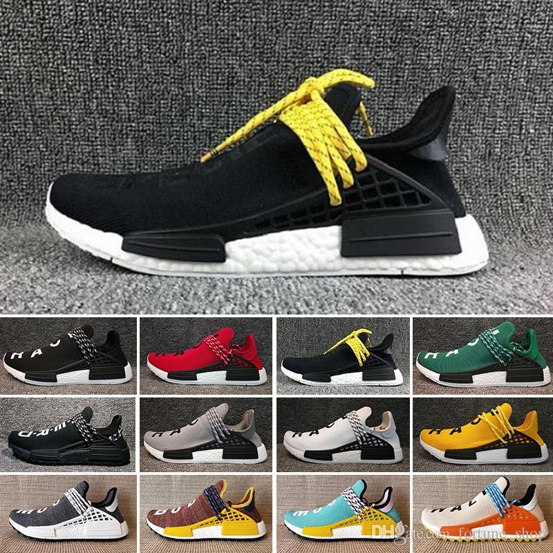 info for cd91e 0ae9b Adidas PW HU Holi NMD MC 2019 Para Hombre Human Race Hu Trail Pharrell  Williams Zapatos Para Correr Blanco Crema Holi Mujer Zapatillas Deportivas  Diseñador ...