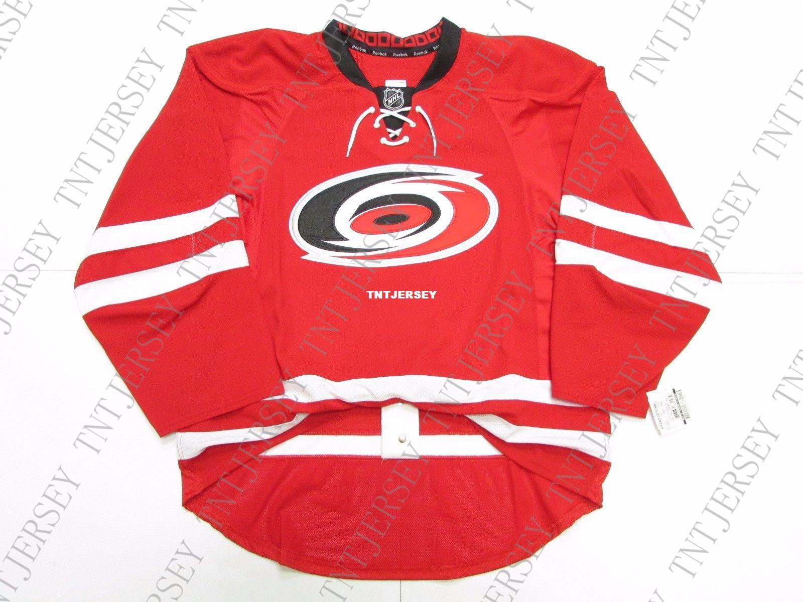 timeless design e9d71 d510b Cheap custom CAROLINA HURRICANES HOME TEAM ISSUED JERSEY stitch add any  number any name Mens Hockey Jersey XS-5XL