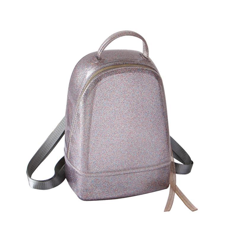 2018 Cute Women Jelly Backpack Female School Bag Brand Designer Luxury  Rucksack Summer Beach Knapsack For Teenage Girls New Side Bags Kids Backpack  From ... 42d3d236c165e