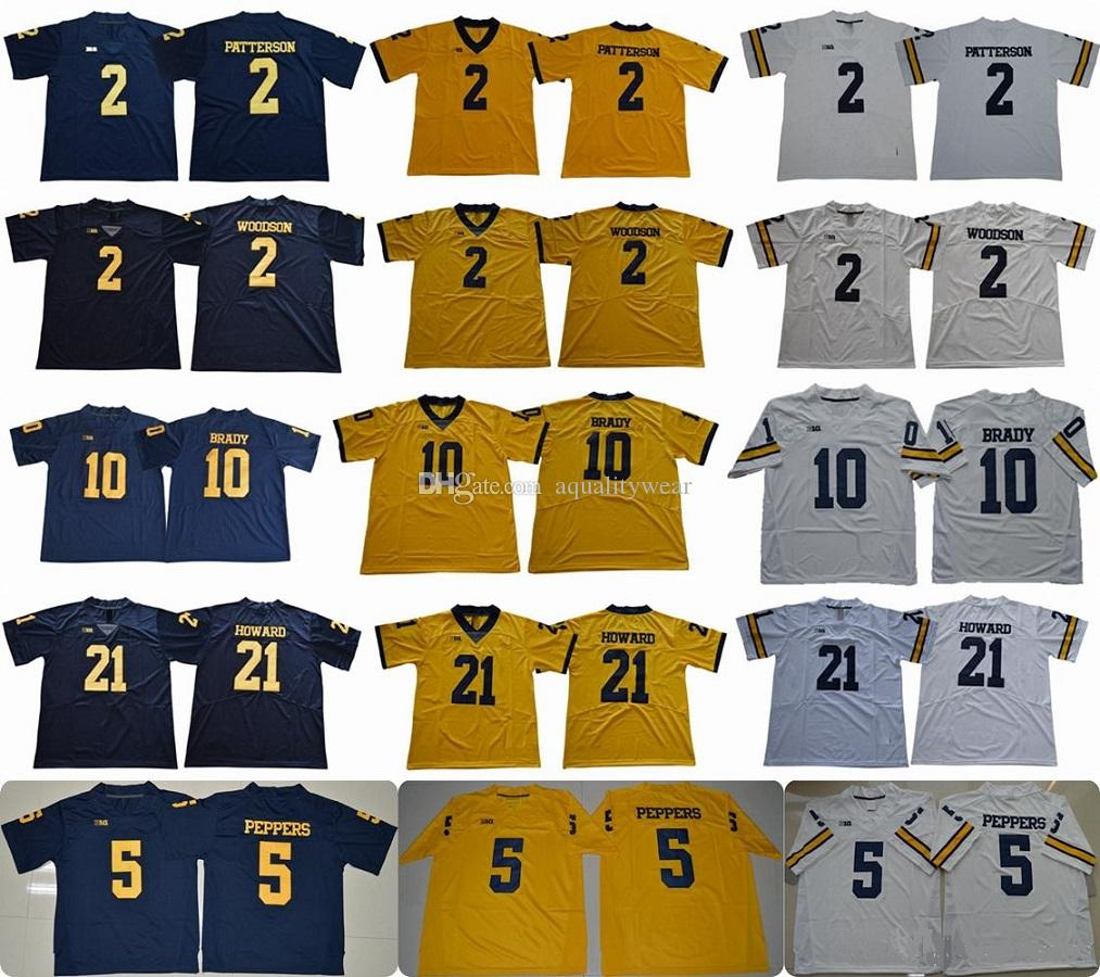 Michigan Wolverines 2 Shea Patterson 21 Desmond Howard 10 Tom 2 Charles  Woodson 5 Jabrill 3 Rashan Gary Jumpman College Football Jerseys UK 2019  From ... 4b11cd0c3