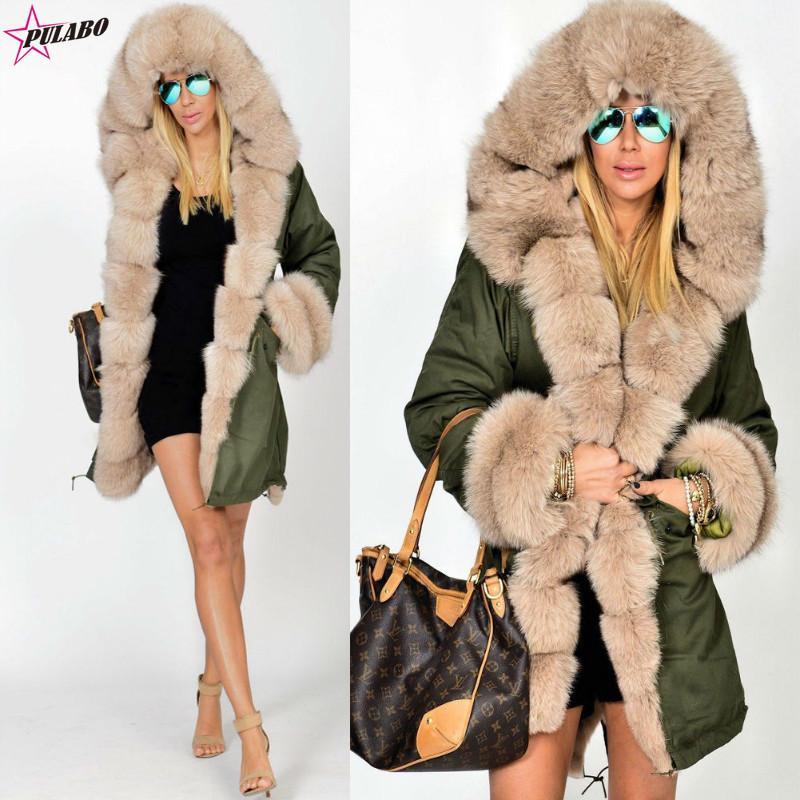 3998f594f98 2019 Plus Size Women Faux Fur Coat Warm Parka Women S Thick Furs Coat Women  Winter Jacket Hooded Overcoat Cotton Parkas From Beenlo