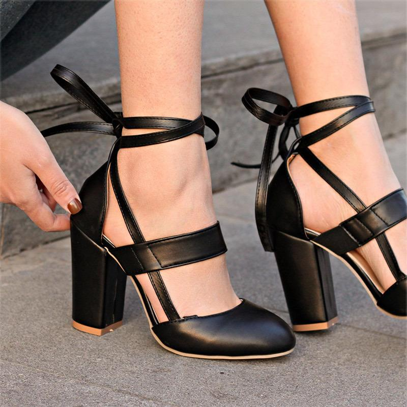 7a2a0a400cda Designer Dress Shoes Women Pumps Fashion High Heels 2019 Platform Women Lace  Up Woman Best Quality Thin Heels Black Pink Moccasins For Men Suede Shoes  From ...