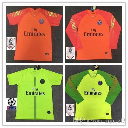 2020d0064 2019 2018 Psg Jersey 18 19 Champions League MBAPPE Goalkeeper Buffon  VERRATTI White Jordam Soccer Jerseys Paris Maillot De Foot Goalkeeper Shirt  From ...