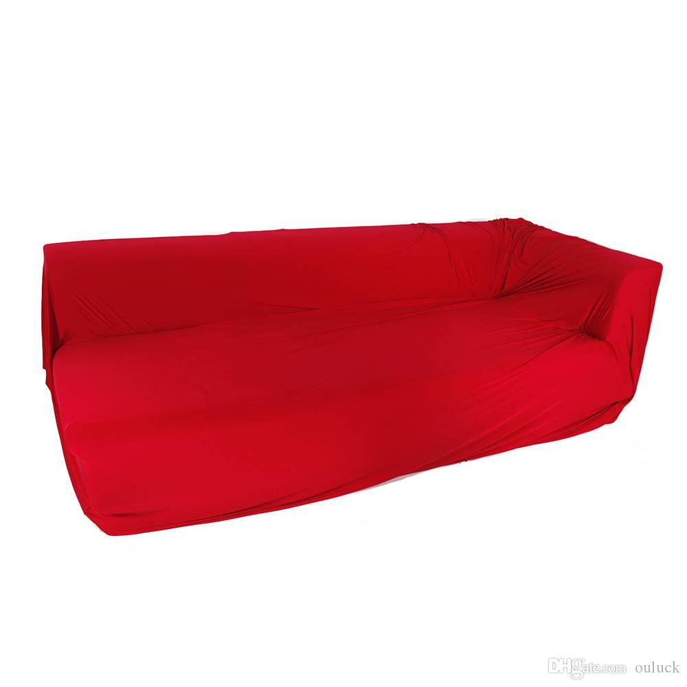 Spandex 2 Seats 3 Seats L-shaped High Elasticity Sofa Covers Easy Fit Couch  Stretch Sofa Cover Slipcover Red Chocolate US Stock