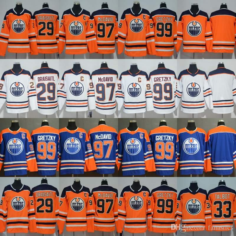 quality design 78ebb 209d1 Mens Womens Youth Edmonton Oilers Connor McDavid Leon Draisaitl Cam Talbot  Wayne Gretzky Hockey Jerseys In Stock