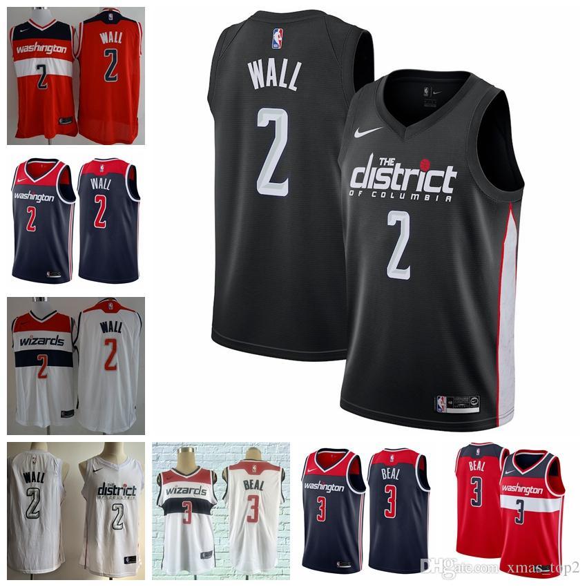 2019 New New City Edition Black Wizards Basketball Jerseys 2 John