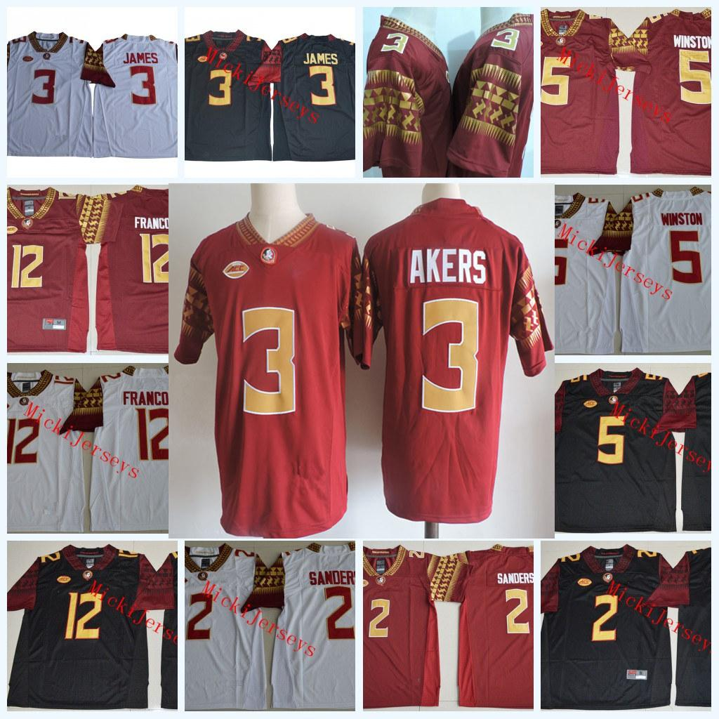 2019 FSU Cam Akers Football Jerseys Deion Sanders Derwin James Dontavious  Jackson Jameis Winston Deondre Francois Florida State Seminoles Jersey From  ... c3e0994a6