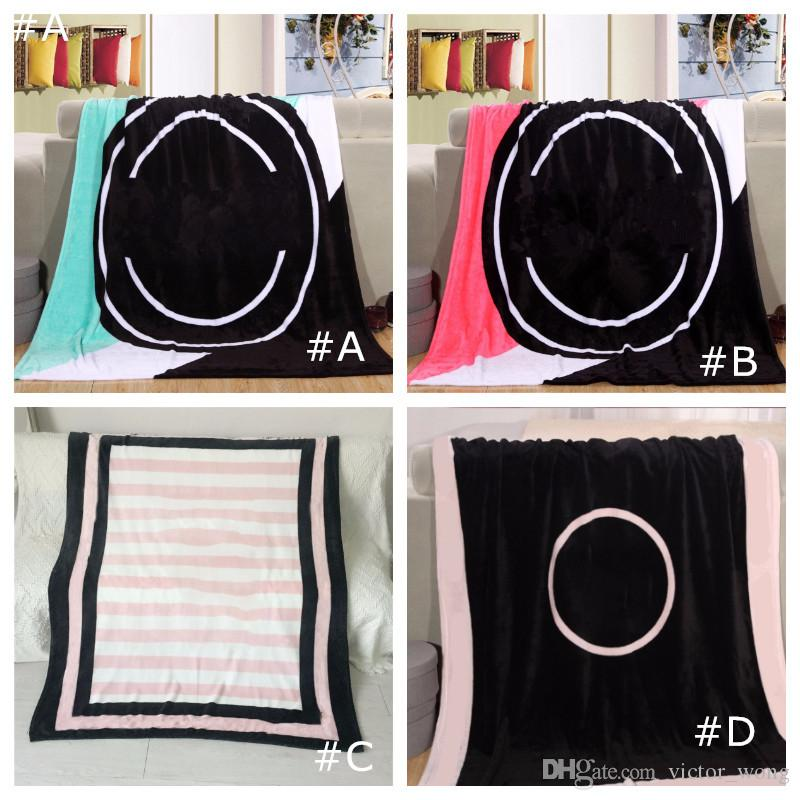 Pink Black Colors Blanket 130*150cm Soft Coral Velvet BeachTowel Blankets Air Conditioning Rugs Comfortable Carpet 4 colors