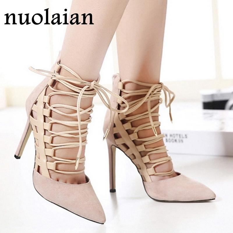 a1c700099674 Dress 11cm Brand Womens Black Shoes Summer High Heel Sandals Faux Suede  Leather Pumps Woman Pointed Toe High Heels Lady Wedding Shoes Casual Shoes  For Men ...