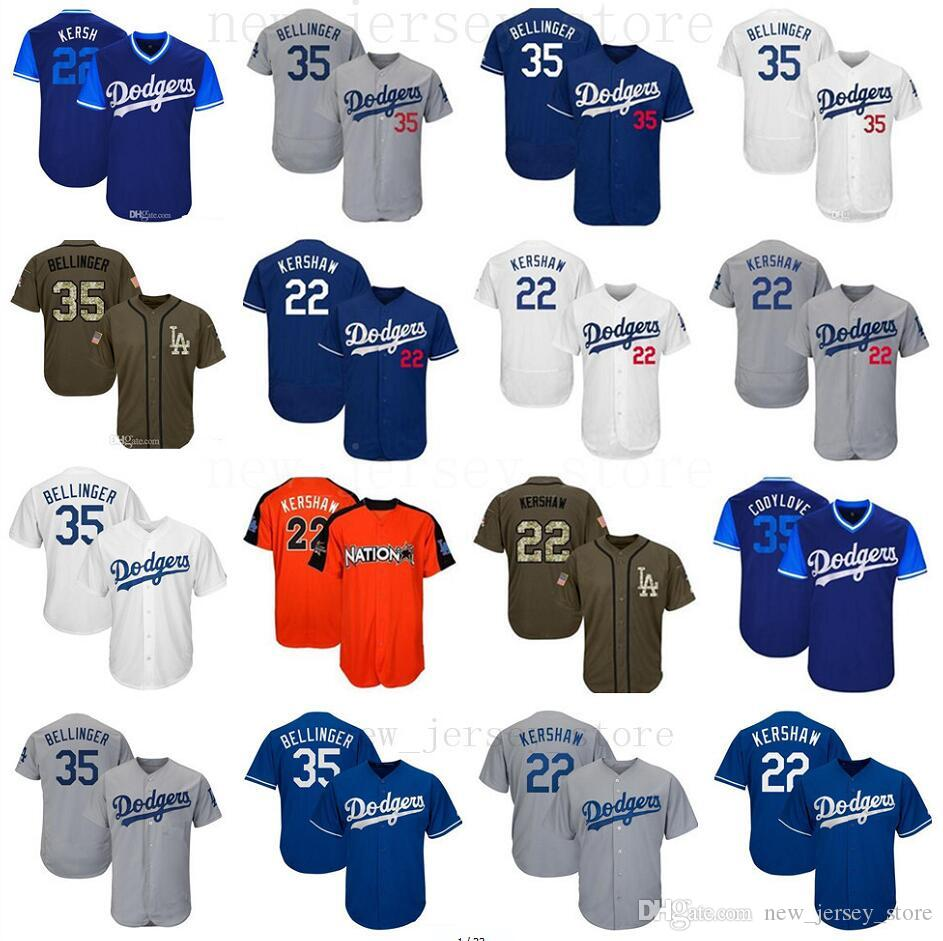 best service f3798 08867 Men Women Youth Dodgers Jersey 22 Clayton Kershaw Kids 35 Cody Bellinger  Baseball Jersey White Gray Grey Blue Green Salute to