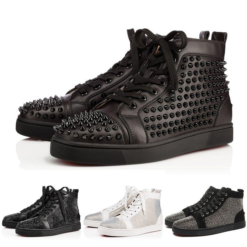 online store a27ef 37a64 Red Bottoms Shoes Scarpe da uomo con borchie con borchie firmate di marca  per gli uomini Scarpe da ginnastica in vera pelle per gli amanti delle  feste ...