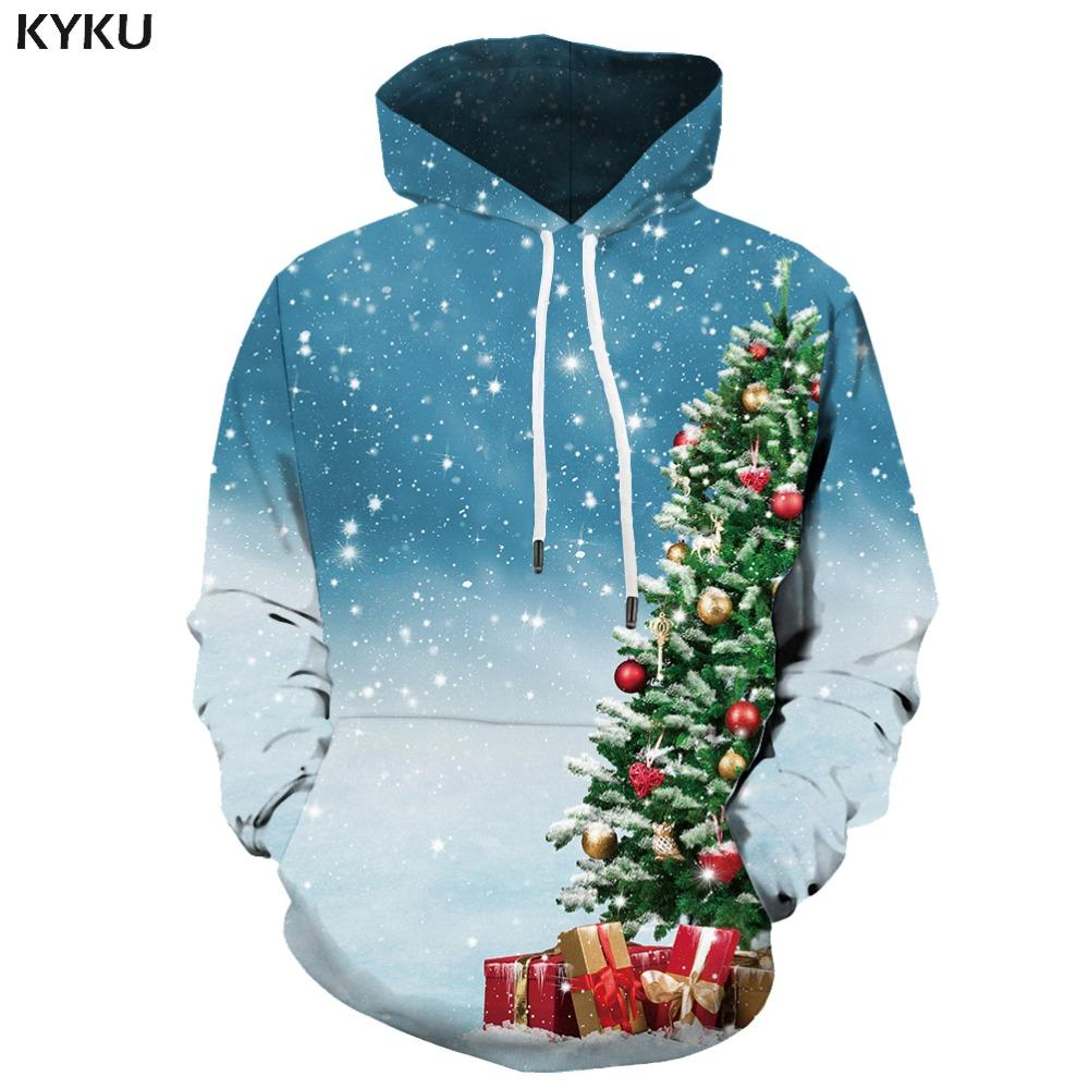 e8b3d1158d20 2019 KYKU 3d Hoodies Christmas Tree Sweatshirts Men Xmas Hooded Casual  Gifts Hoodes 3d Snow Hoodie Print Harajuku Hoody Anime Unisex From  Instachic