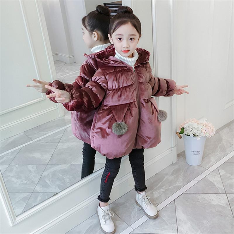 0e8f73e2c051 New Baby Girls Winter Warm Coat Kids Jacket Fashion Cute Princess ...