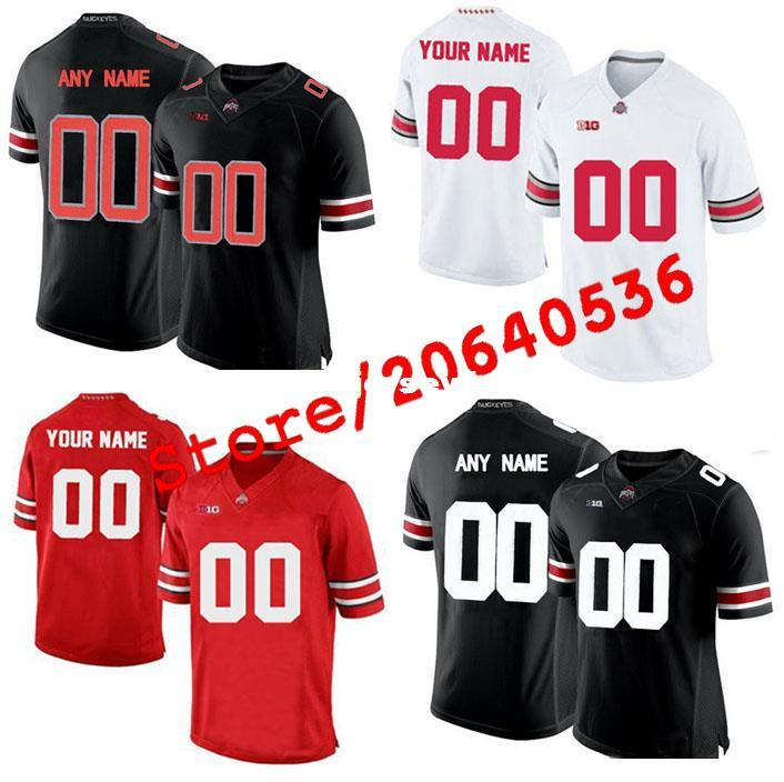 best service 569e0 b7acb Cheap Custom OHIO STATE BUCKEYES College jersey Men Women Youth Kids  Personalized Any number of any name Stitched RED White Football jerseys